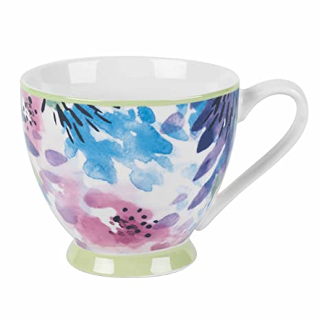 b295e363073 Amazon.com: Portobello Sandringham Adalyn Mint New Bone China Mugs Tea Cups,  Set of 4: Kitchen & Dining