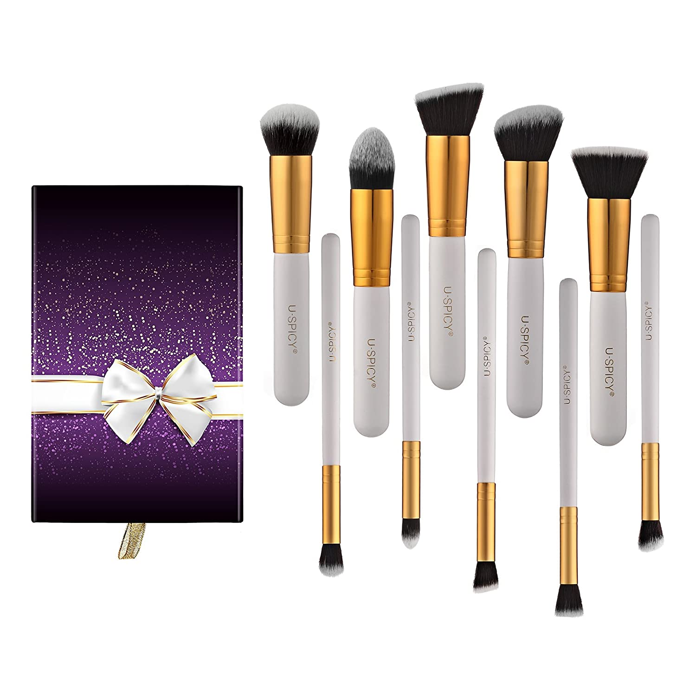 Amazon.com: Cosmetics Brushes, 10-Piece Professional Makeup Brush ...