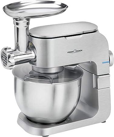 Robot de cocina con picadora de carne, batidora con cuenco de acero inoxidable, 6,5 litros (amasadora, 1000 W, batidora, gancho para amasar, 6 niveles): Amazon.es: Hogar