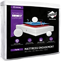 Degrees of Comfort Waterproof Zippered Mattress Encasement – Breathable Bed Bug Mattress Cover with Advance Patented Zipper Flap Design - 3M Scotchgard Stain Release Technology
