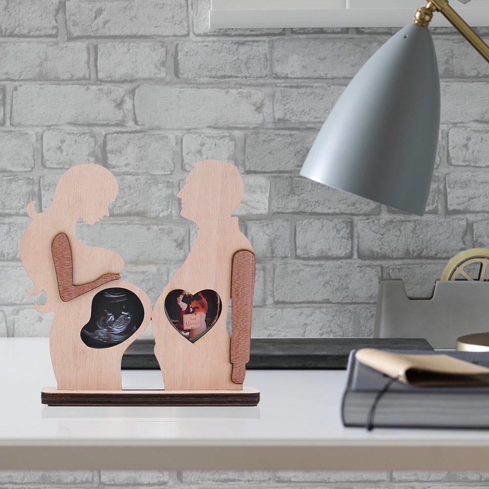Giftgarden Baby Bilderrahmen aus Holz für Ultraschallbild und ...