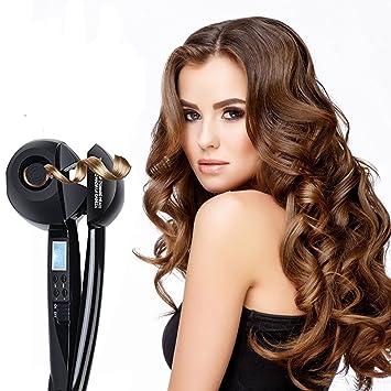 Magic varita de automática de rizador de cerámica Rizador de cabello, hann rodillo Waver máquina estilizador de cabello con LCD Pantalla Digital (negro): ...