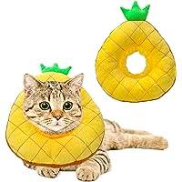 HYLYUN - Collar de recuperación para gatos con cuello de piña y conos de gato después de la cirugía, collar ajustable de…
