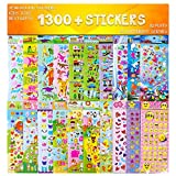 Toys : Stickers 1300 + and 20 Different Scenes , 3D Puffy Stickers, Year-Round Sticker Bulk Pack for Teachers School,Students, Toddlers,Scrapbooking, Girl Boy Birthday Present Gift, Including cars and more
