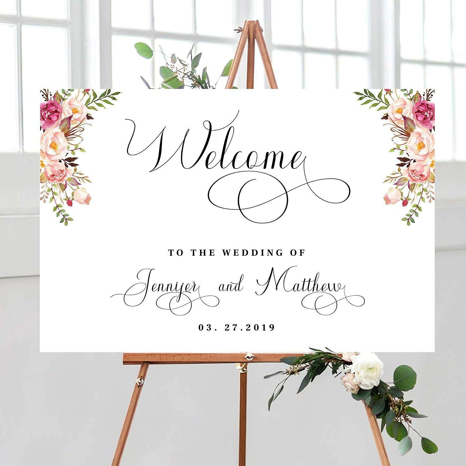 graphic about Printable Welcome Sign named : FabricMCC Wedding day Welcome Signal, Bohemian Marriage