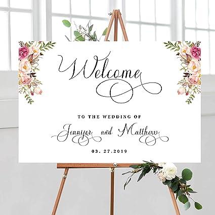 Amazon Com Fabricmcc Wedding Welcome Sign Bohemian Wedding