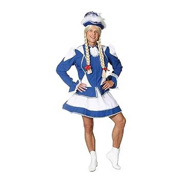 25f0895759c2b ORLOB étincelles Costume pour Homme Bleu Blanc avec Bordure en Argent pour  Adultes Taille