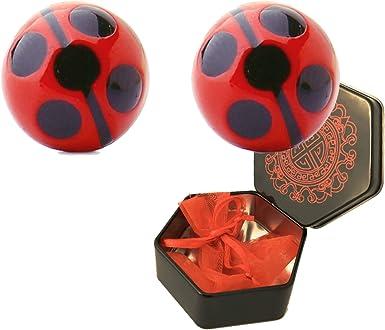 Miraculous Ladybug Pendientes de Disfraz Ideal para Cosplay o ...