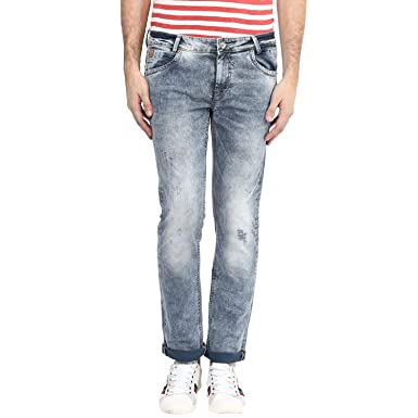 206a2137ef9a Mufti Mens Grey Super Slim FIT Mid Rise Jeans  Amazon.in  Clothing ...
