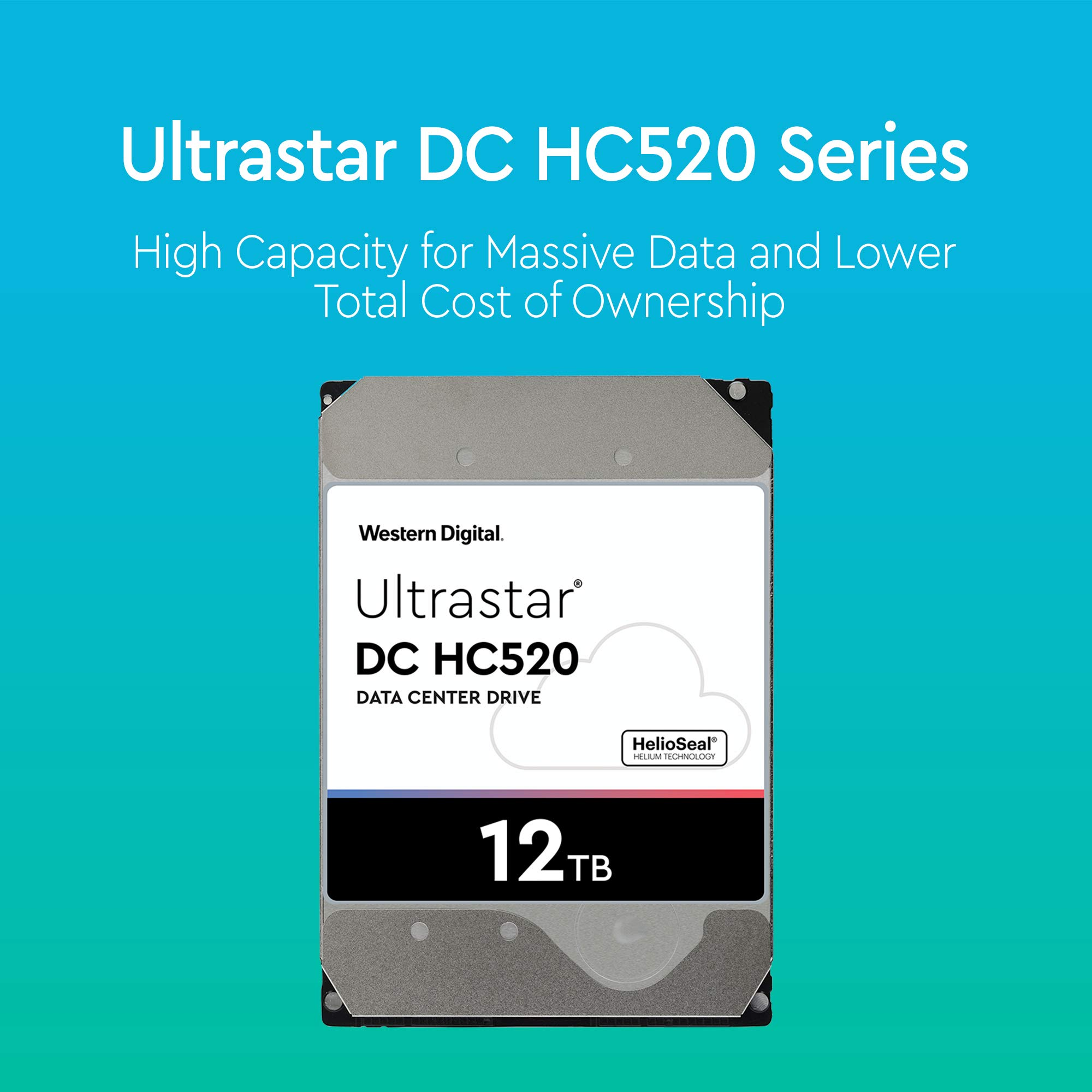 HGST - WD Ultrastar DC HC520 HDD | HUH721212ALE600 | 12TB 7.2K SATA 6Gb/s 256MB Cache 3.5-Inch | ISE 512e | 0F30144 | Helium Data Center Internal Hard Disk Drive by HGST (Image #2)