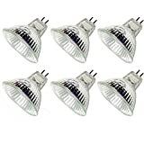 CTKcom Halogen Light Bulbs(6 pack) - 12Volt 20Watt MR16 Halogen Lamp Bi Pin Wide Beam High Lumens 2000Hr Life Precision…