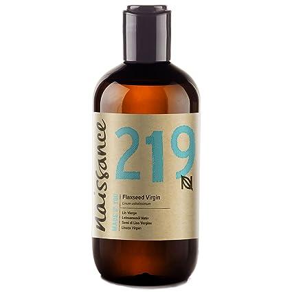 Naissance Aceite Vegetal de Linaza 250ml - 100% puro, virgen, prensado en frío
