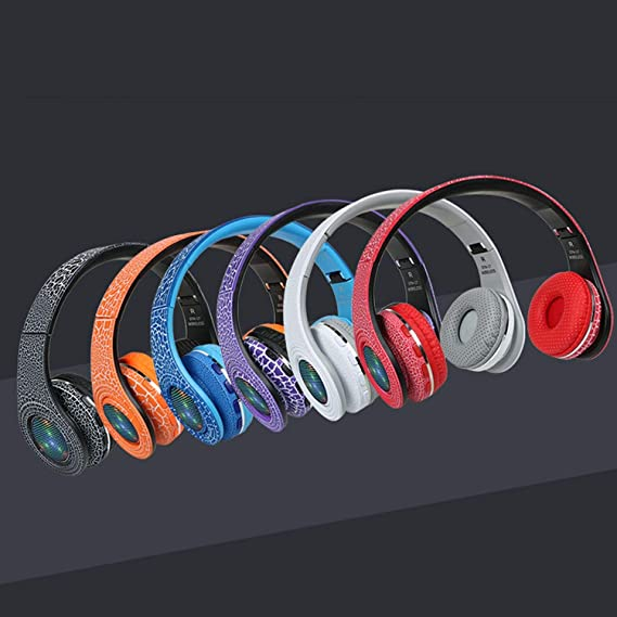 Amazon.com: Casque Auriculares Bluetooth Headset Glowing LED Head Phone Computer Cordless Wireless Mic,White: Cell Phones & Accessories