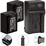 BM Premium 2 BP-718 Batteries and Charger for Canon Vixia HFR80, HFR82, HFR800, HFR70, HFR72, HFR700, HFM500, HFR30, HFR32, HFR300, HFR40, HFR42, HFR400, HFR50, HFR52, HFR500, HFR60, HFR62, HFR600