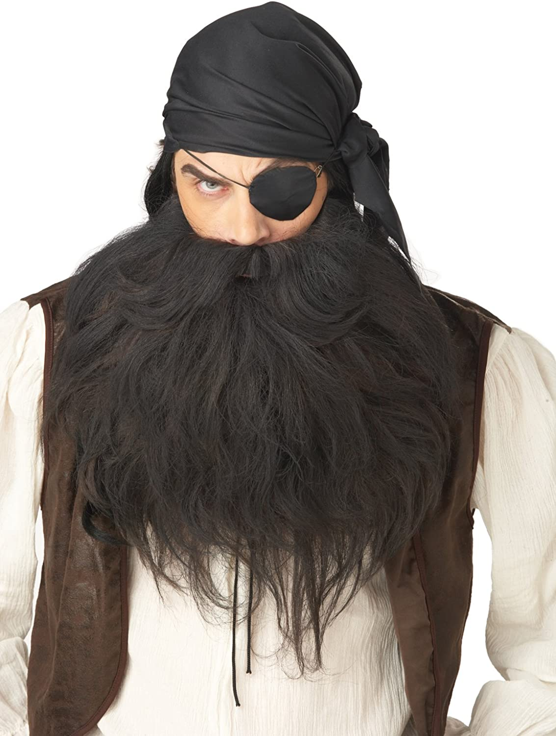 BAD BIKER BLACK BEARD /& MOUSTACHE FACIAL HAIR MUSTACHE HALLOWEEN ACCESSORY