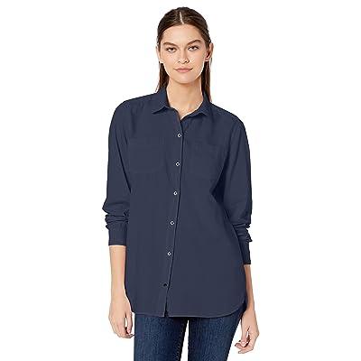Brand - Goodthreads Women's Lightweight Twill Two-Pocket Relaxed Shirt: Clothing