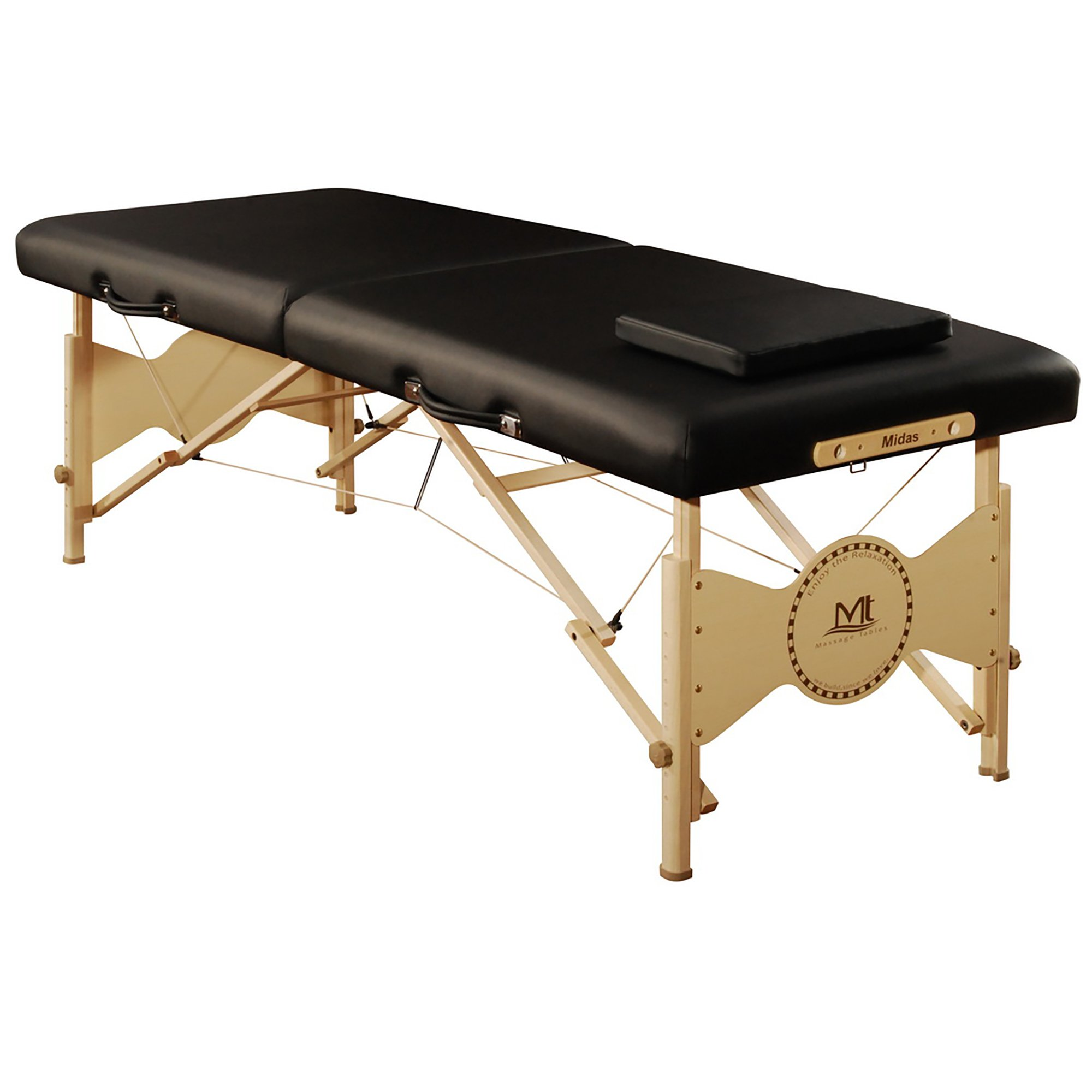 Mt massage Midas Entry 28'' Professional Portable Massage Table Package (Black)
