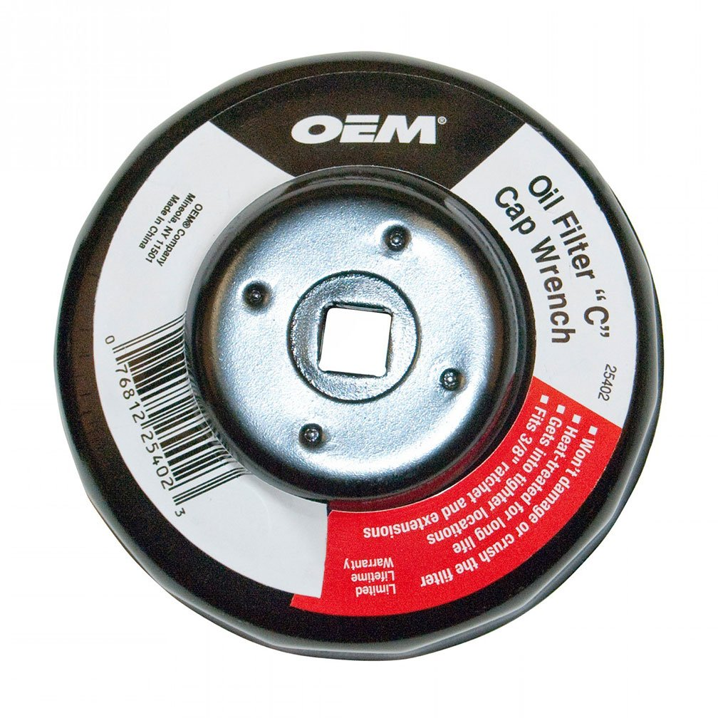 OEMTOOLS 25400 Oil Filter A Cap Wrench 74//76mm with 30 Flutes