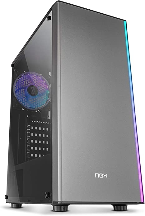 Nox Infinity Omega - NXINFTYOMEGA - Caja PC, ARGB, Color Negro: Nox: Amazon.es: Informática