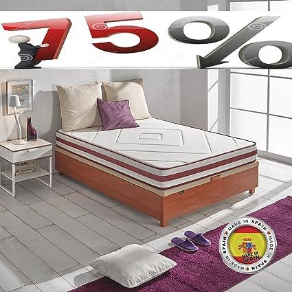 Colchon Viscoelastico 180x200 Todas las Medidas, TOP VISCO, Fabricado en España, Antiacaros,