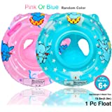 Inflatable Baby Float For Kids Toddler Infant, Safety Seat Boat Pool Swimming Ring With Handle, Childrens'First Swim Floaties Water Fun Accessories Early Learning Bath Toy For Girls Boys(Random Color)
