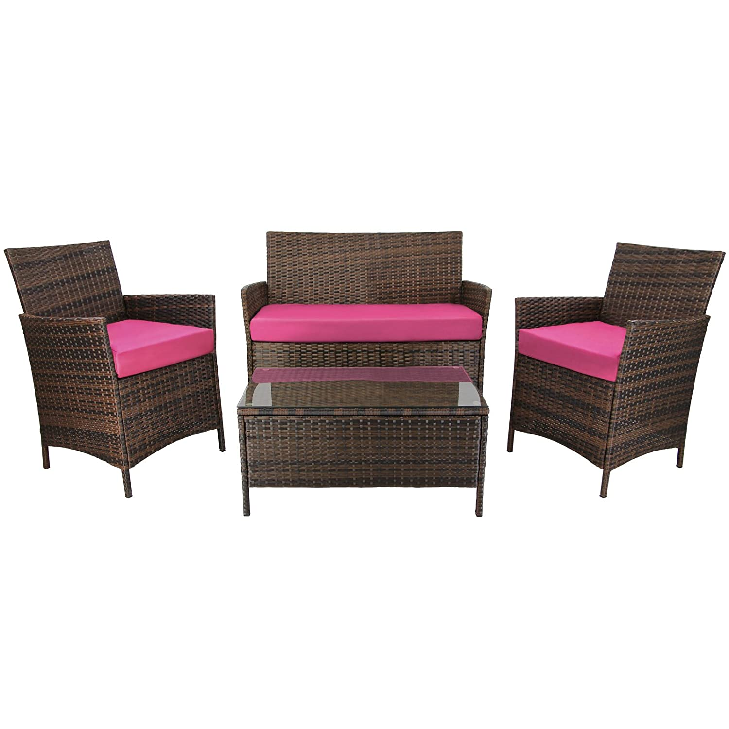 7 teilige rattan sitzgruppe lounge kuba lounge set poly rattan inkl auflagen und bez ge. Black Bedroom Furniture Sets. Home Design Ideas