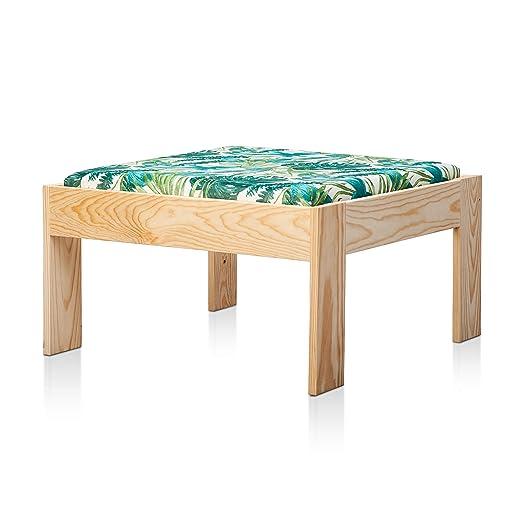 SUENOSZZZ - Sofa Jardin de Madera de Pino Color Natural, MEDITERRANEO Mod. chaiselonge. Muebles Jardin Exterior. Silla para Patio y terraza. Sillon ...