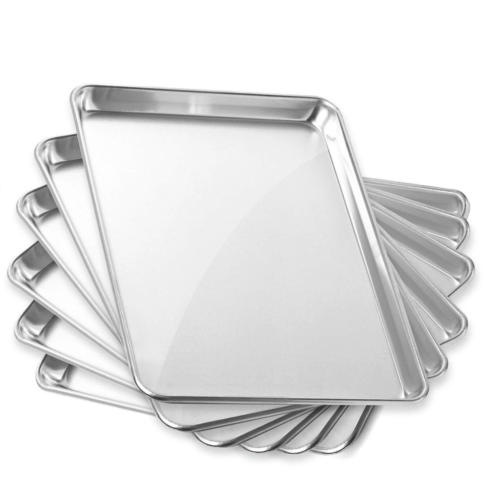 6 Pans Aluminum Baking Pans 13 x 18 Inch #MWMN