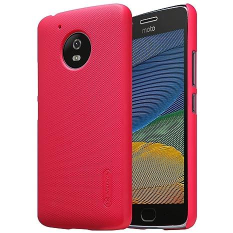 Nillkin - Carcasa para Motorola Moto G5, diseño de Escudo súper Esmerilado, Compatible con Motorola Moto G5, Color Rojo