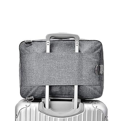 b74fa629572f RomWell Travel Duffel Bag Waterproof Fashion Lightweight Large Capacity  Portable Luggage Bag (Greyish black)