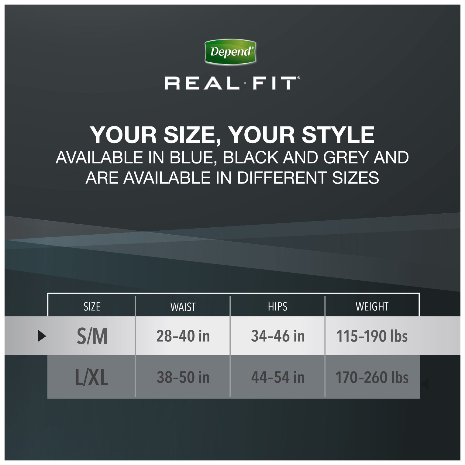 Depend Real Fit Incontinence Briefs for Men, Maximum Absorbency, S/M, Grey by Depend (Image #4)