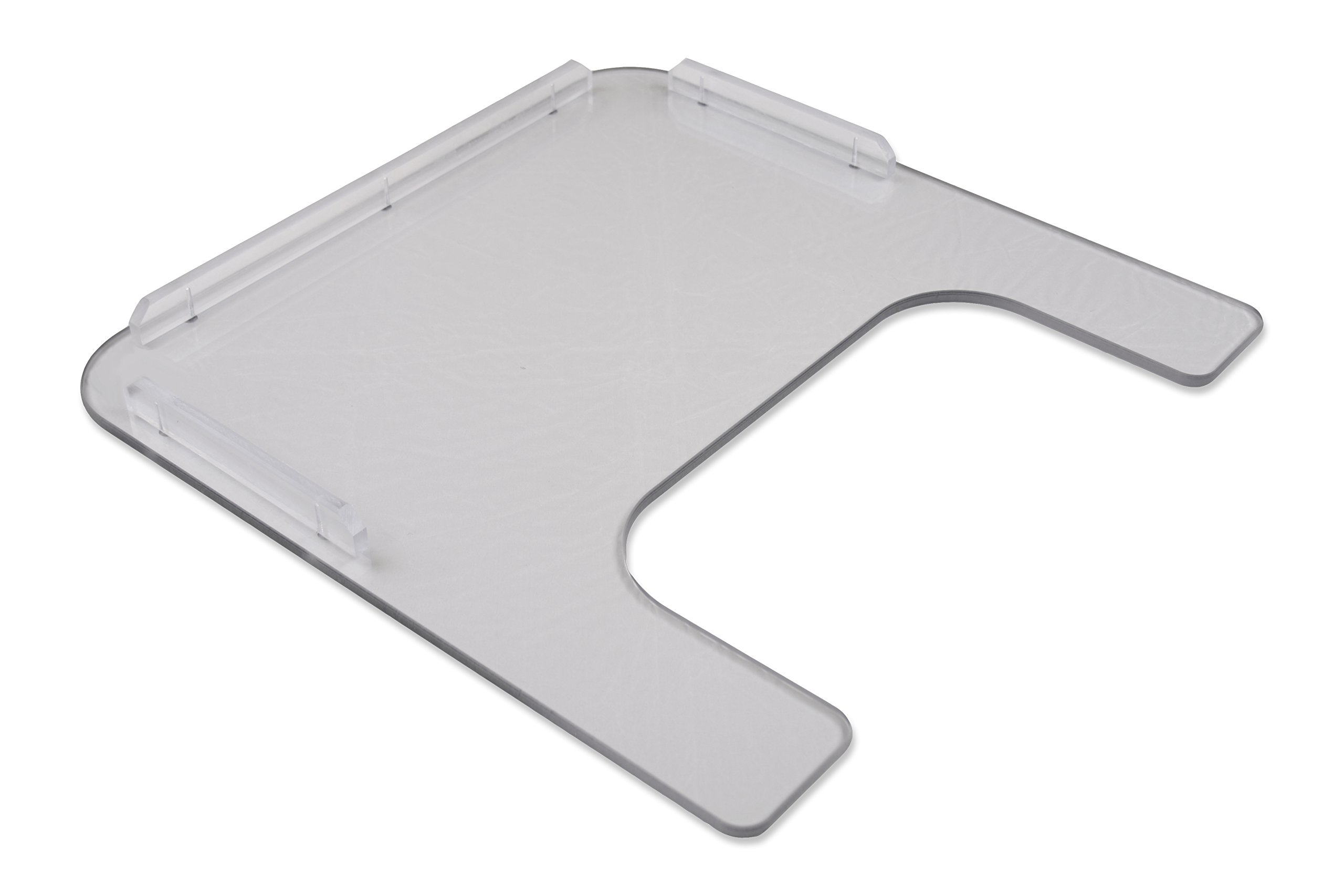 """Rehabilitation Advantage 1/4"""" Polycarbonate Wheelchair Tray (Adult) with Poly Rim and Included Velcro Straps"""