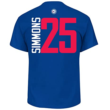 e7d2574a4 Ben Simmons Philadelphia 76ers  25 NBA Men s Vertical Player T-shirt (XX-