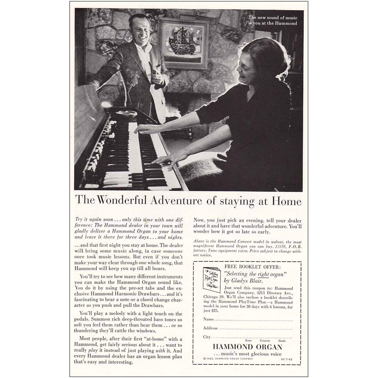 Amazon com: RelicPaper 1962 Hammond Organ: The Wonderful