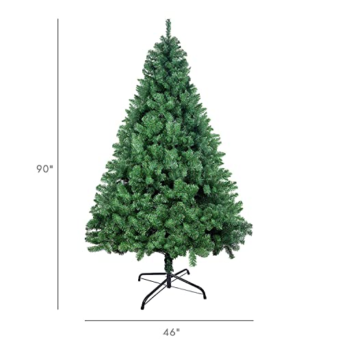 Ztotop 7.5 Foot Premium Spruce Hinged Artificial Christmas Tree with Sturdy Stand