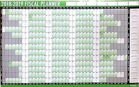 Calendrier Planning 2019.2018 2019 Financier Calendrier Planning Mural Avec Stylet Et