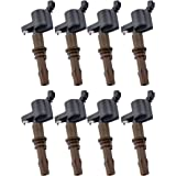 Pack of 8 Brown Boot Ignition Coils for 2008-2016 - Expedition F-150 F-250 F-350 F-450 F53 Explorer- Navigator Mountaineer Co