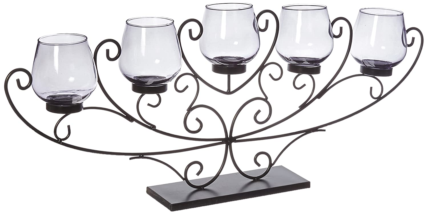 Koehler Home Decor Five-Candle Swirled Iron Candle Holder Smart Living SS-KHD-10016835