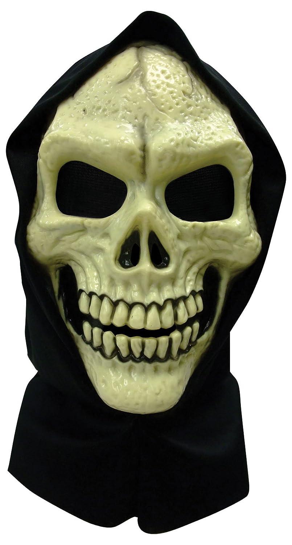 Skull Hooded Mask PVC Mask Accessory for Halloween Fancy Dress ...