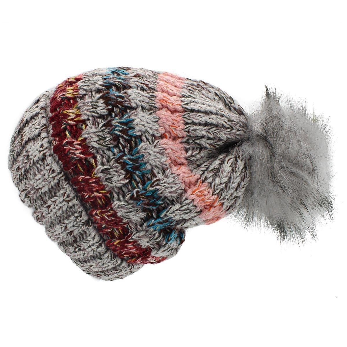 Ronlin Women Winter Knit Beanie Hat - Winter Women Hat with Big Pom Pom Ski  Caps at Amazon Women s Clothing store  89e15a30851