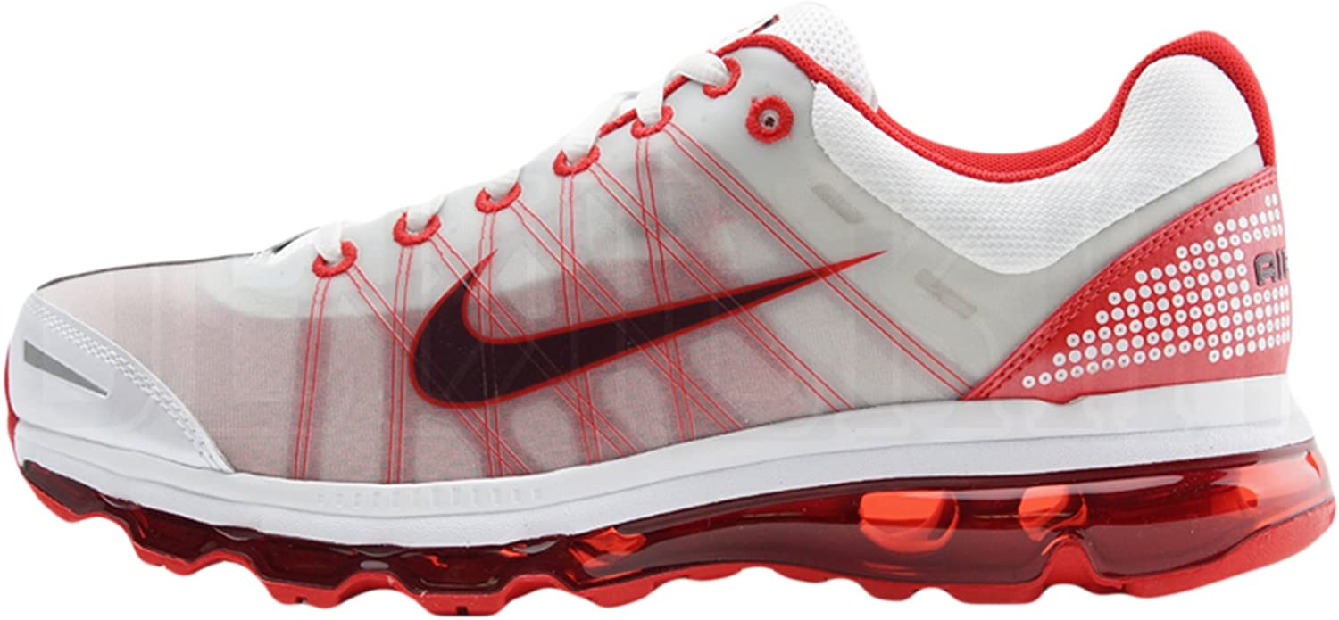 Above head and shoulder service Ace  Men's Nike Air Max + 2009 Running Shoes White/Sport Red 486978-166 (9.5):  Amazon.ca: Shoes & Handbags