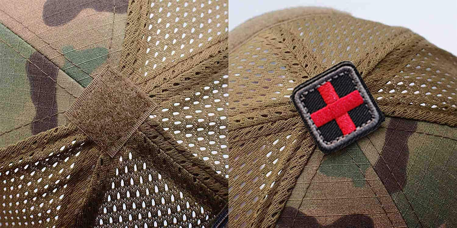 Uphily Military Patch Hat with 5Pack American Flag Patch Detachable
