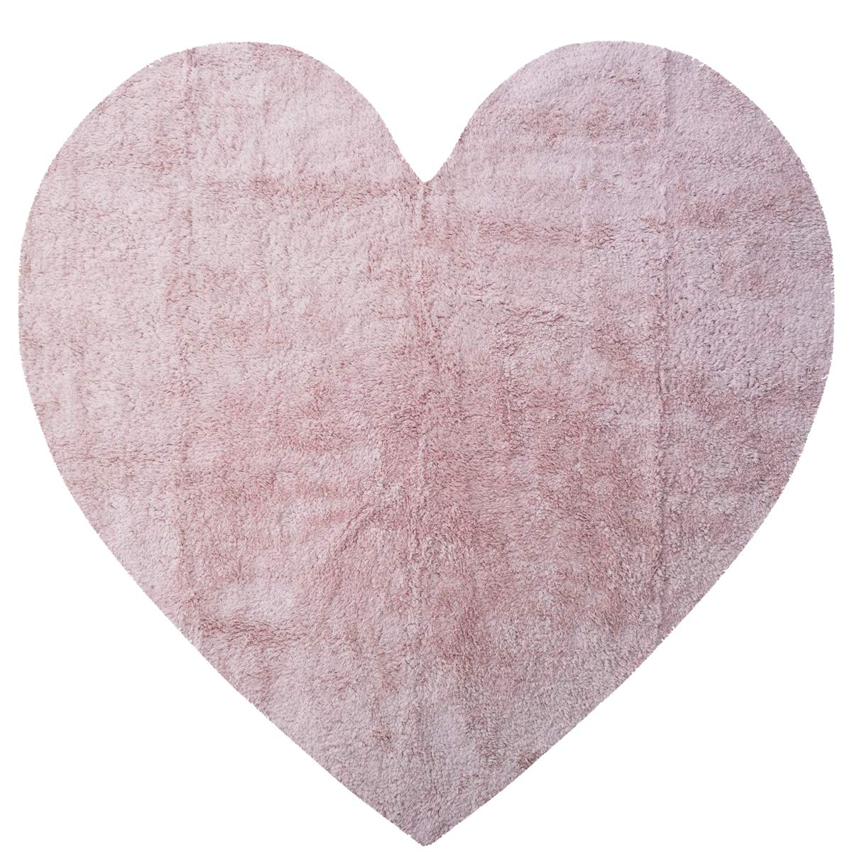 Habudda Pink Heart Shape Area Rugs for Girls Kids Room Warm Soft 100% Cotton Luxury Plush Handmade Knitted Nursery Decoration Rugs Baby Crawling Rugs Carpet 1.2meter