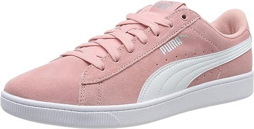 puma basket femme rose