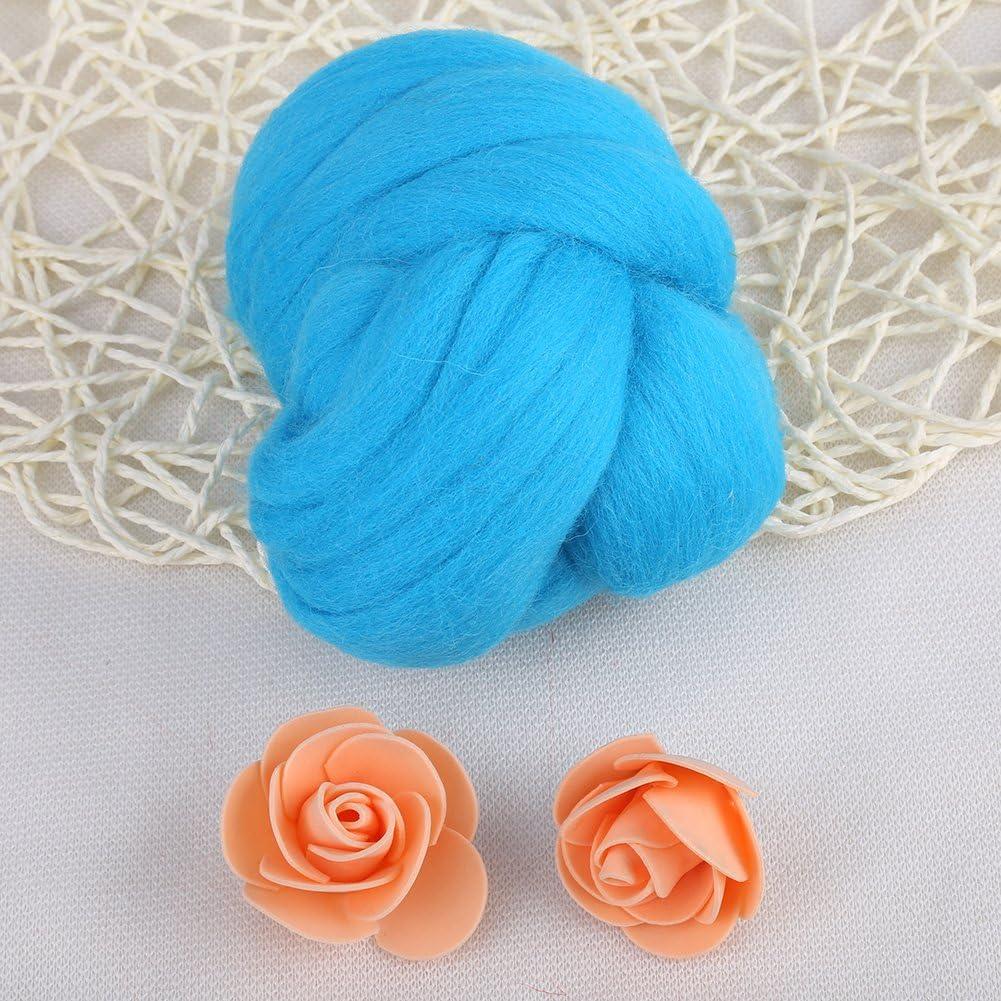 Black 8 Colors Natural Wool Roving Needle Felting Wool Fiber Spin for Needle Felting Hand Spinning Discovering DIY Weaving Craft