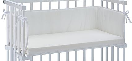 Babybay - Colchón y fijaciones para cuna de colecho, color blanco [Importado de Alemania