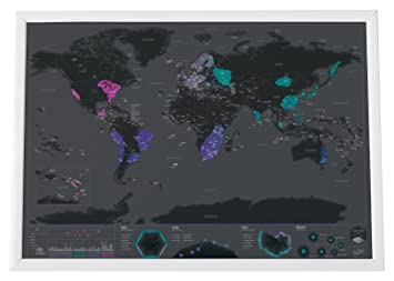 Mystic maps unique neon world map you can scratch it off to mystic maps unique neon world map you can scratch it off to reveal destinations gumiabroncs Gallery