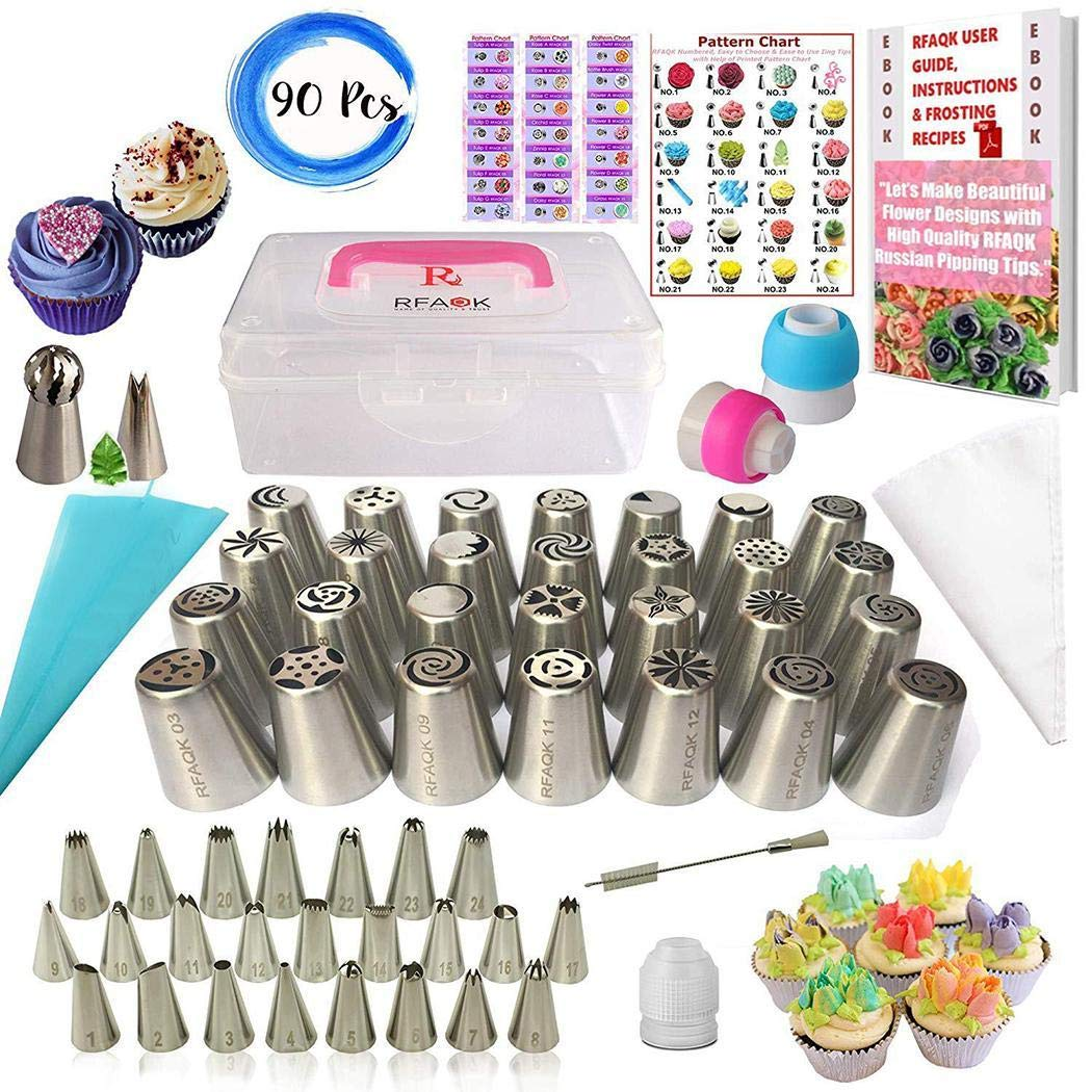 Lunir Durable Portable Cake Flower Decorating Mouth Cake Nozzles Cake Tools Set Candy Making Molds