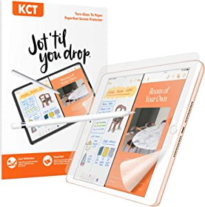 KCT [2 pack]Paperfeel Screen Protector Compatible with iPad 6th Generation 9.7 inch,High Touch Sensitivity Anti Glare,Less Reflection,Drawing Like on Paper.Easy Installation