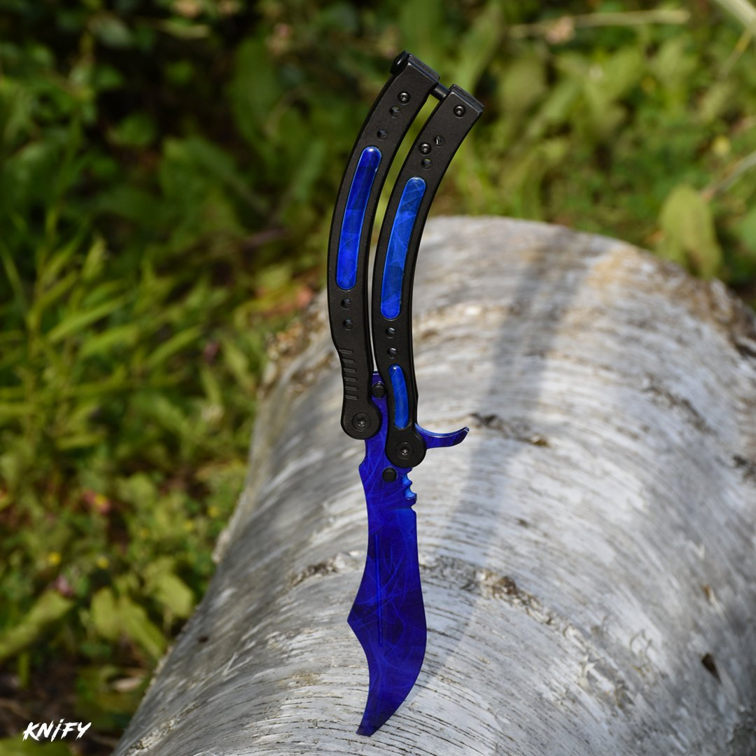 KNIFY Butterfly Doppler Sapphire Skin - Real CS:GO Cuchillo ...